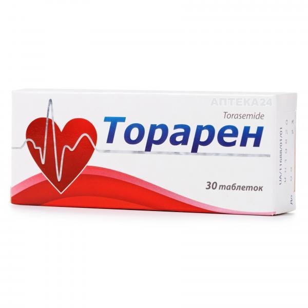 Торарен таблетки по 10 мг, 30 шт.