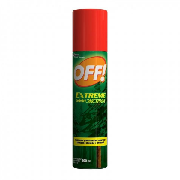 OFF (Офф) Экстрим аэрозоль против комаров, 100 мл