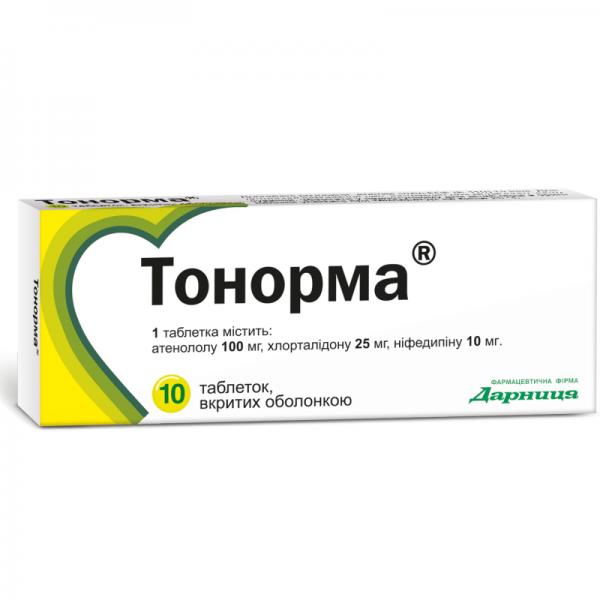 Тонорма таблетки, 10 шт.