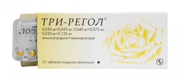Три-регол таблетки противозачаточные, 21 шт.