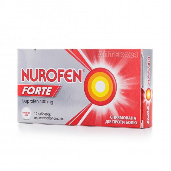 Нурофен Форте таблетки 400 мг №12