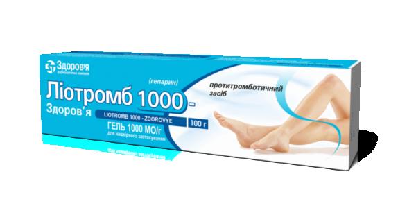 Гель Лиотромб 1000-Здоровье, 100 г