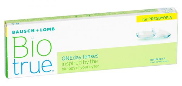 Контактные линзы Biotrue ONEday For Presbyopia 5 шт. H -08.50