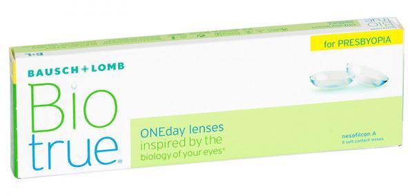 Контактные линзы Biotrue ONEday For Presbyopia 5 шт. L -02.25