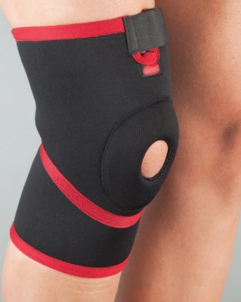 Бандаж на колено неопреновый, неразъемный, силиконовое кольцо размер М 101 АУРАФИКС