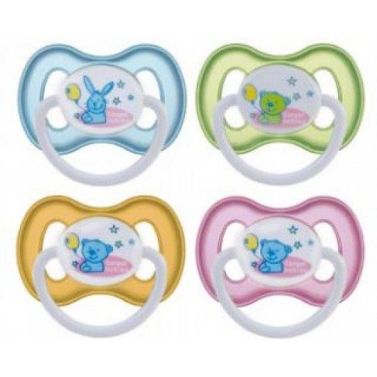 Соска-пустышка PT13 силиконовая ортодонтическая для детей (0-3 месяцев)