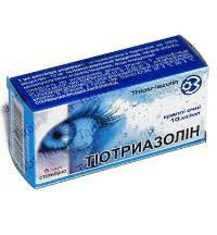 Тиотриазолин глазные капли по 1%, 5 мл