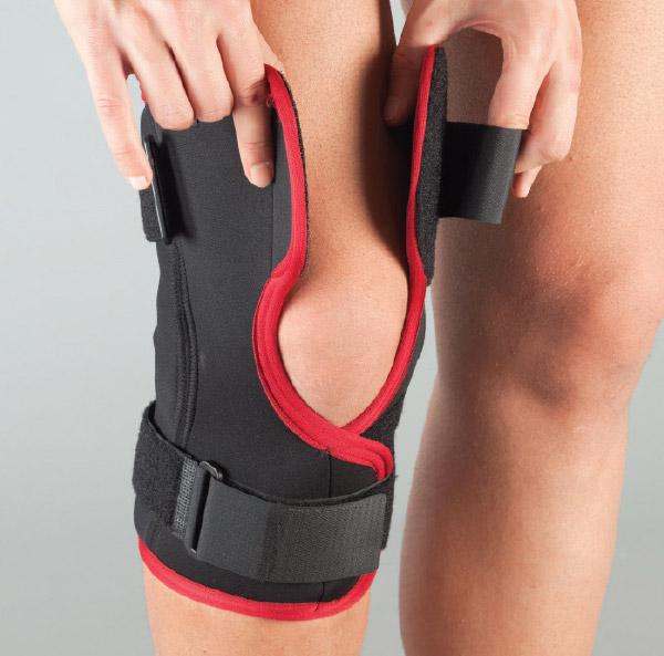 Бандаж на колено неопреновый, разъемный, полицентр шарниры размер S 104-А АУРАФИКС