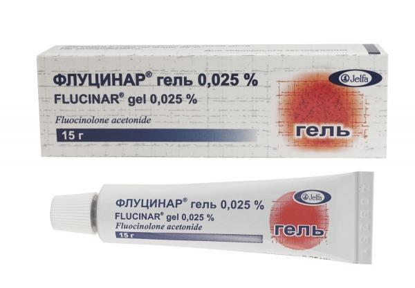 Флуцинар 0.025% 15 г гель