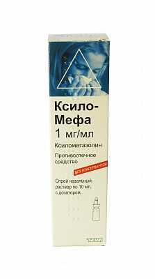 Ксило-Мефа 1мг/мл 10 мл спрей назальный Акция