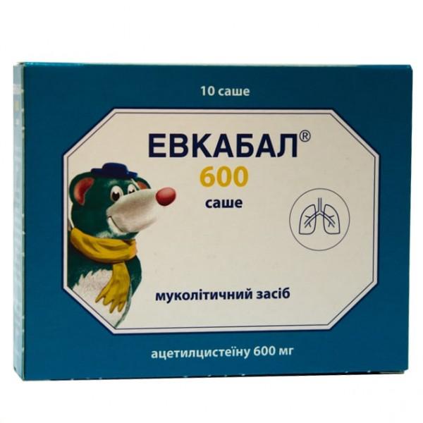 Эвкабал порошок для раствора, по 600 мг в саше, 10 шт.