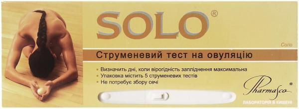 Тест струйный для определения овуляции Solo №5