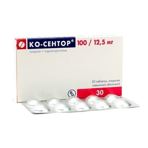 Ко-Сентор 100 мг/12.5 мг №30 таблетки