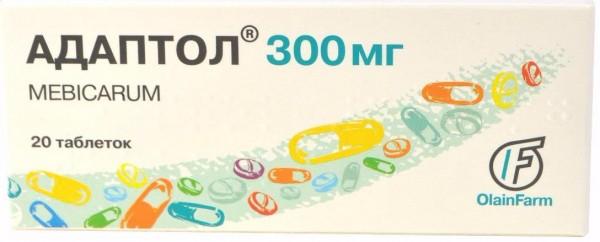 Адаптол таблетки по 300 мг, 20 шт.