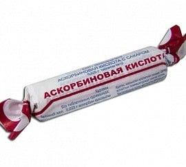 Аскорбиновая кислота таблетки по 25 мг, 10 шт.