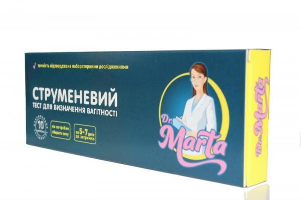 Тест струйный для определения беременности Dr.Marta №1