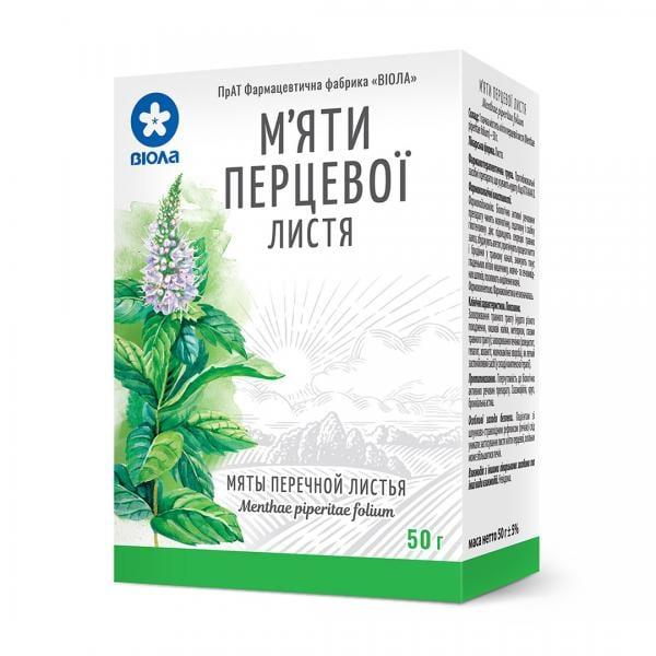 Мяты перечной листья, 50 г - ПрАТ ФФ Віола