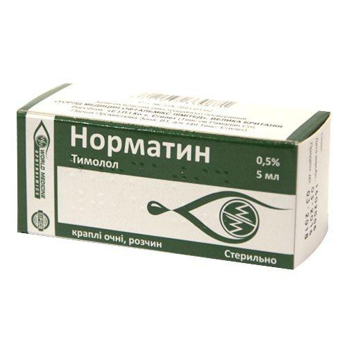 Норматин капли глазные 0,5%, 5 мл