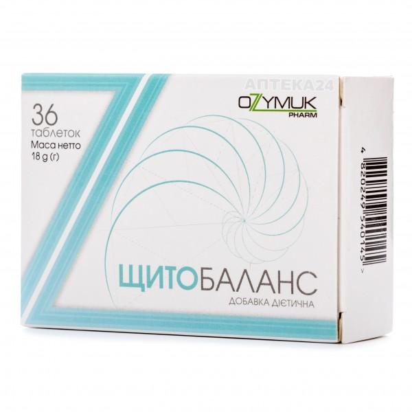 Щитобаланс таблетки для улучшения функций щитовидной железы, 36 шт.