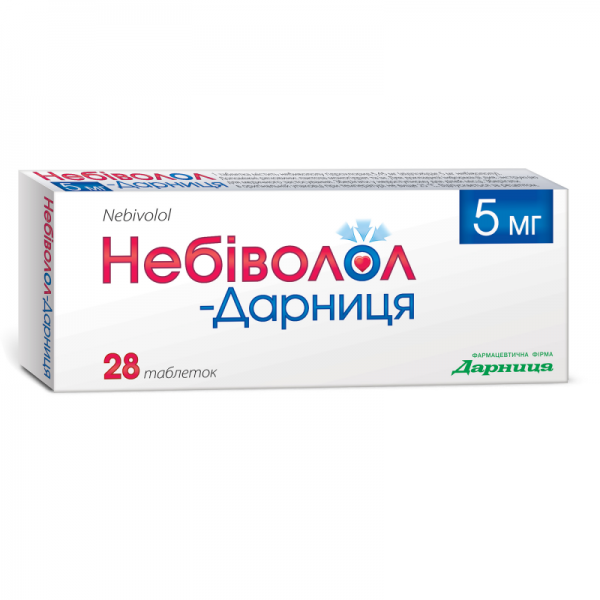 Небиволол-Дарница таблетки по 5 мг, 28 шт.