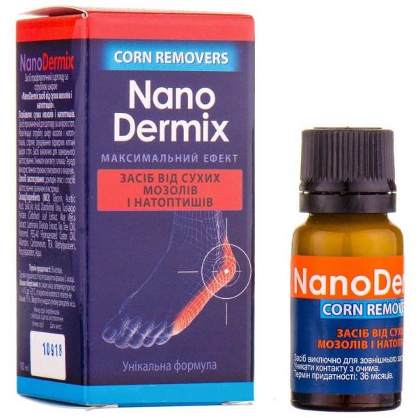 NanoDermix (НаноДермикс) средство по уходу за огрубевшей кожей, сухими мозолями и натоптышами, 10 мл