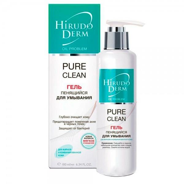 Hirudo Derm Pure Clean пенящийся гель для умывания, 180 мл