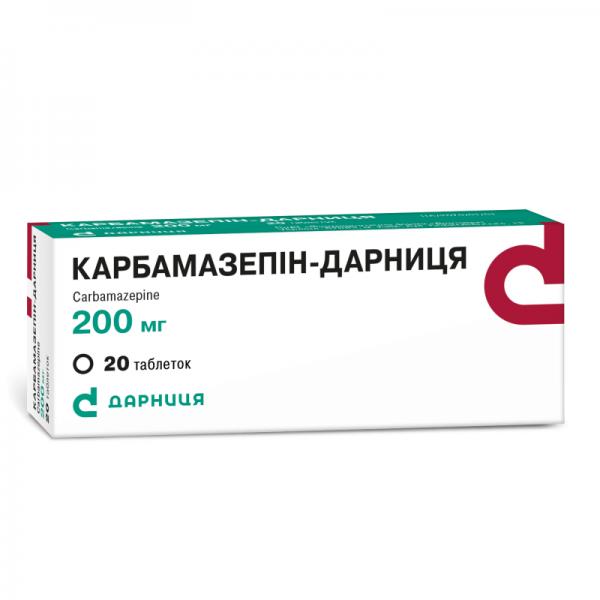 Карбамазепин-Дарница таблетки по 200 мг, 20 шт.