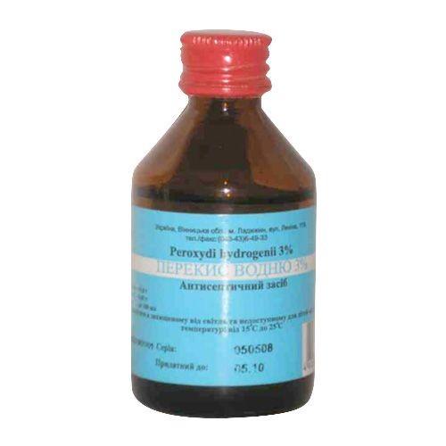 Перекись водорода раствор 3%, 100 мл - Биолик