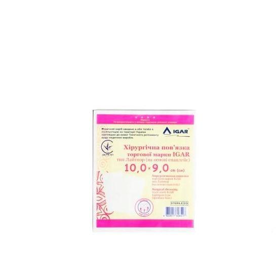 Хирургическая повязка IGAR тип Лайтпор (на основе спанлейс) 10,0х9,0 см, 1 шт.