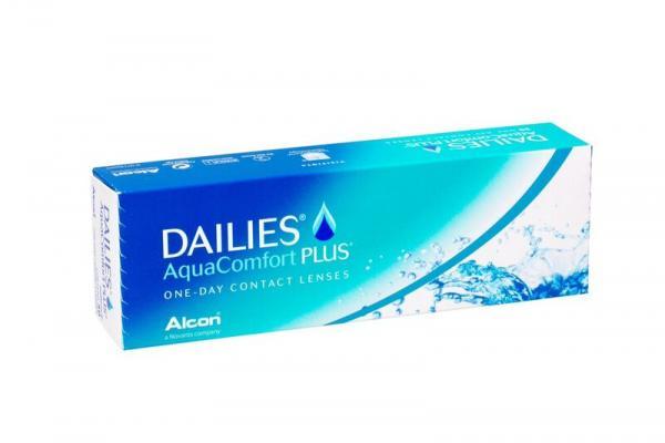 Контактные линзы Dailies AquaComfort Plus 90 шт. 90 8.7 -01.00