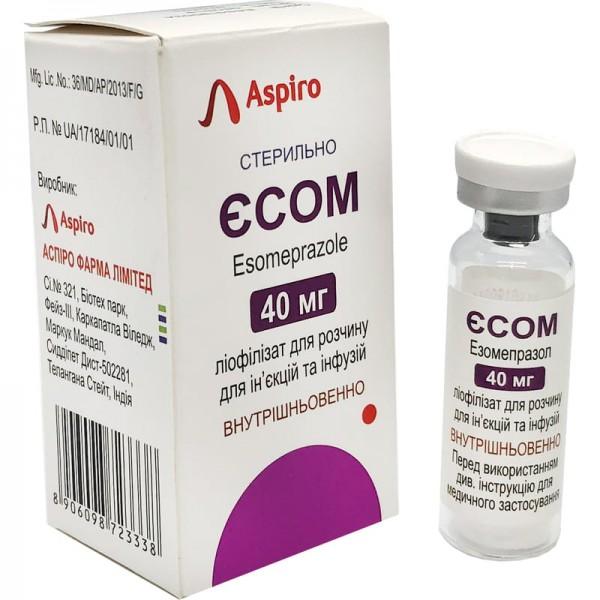 Есом лиофилизат для раствора для инфузий, 40 мл во флаконе