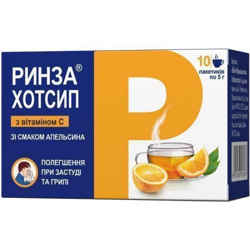 Ринза Хотсип+ витамин C 5 г №10 апельсин