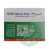 Шприц инсулиновый 0.3 мл U-100 Micro-Fine Plus Demi