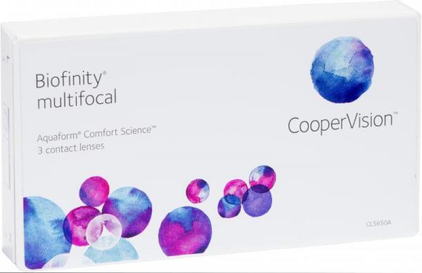 Контактные линзы Biofinity Multifocal 3 шт. Near -1.25 +0.00 d14.0 8.6 add 2.50