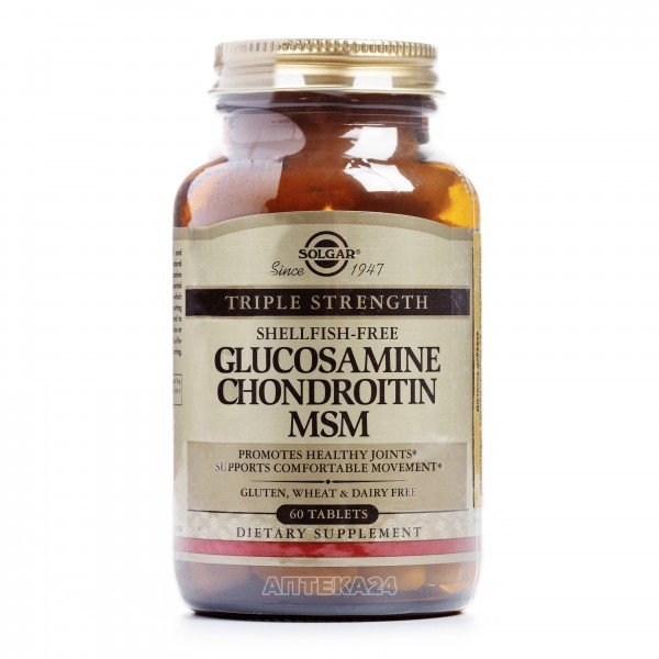 Солгар Глюкозамин-хондроитин комплекс таблетки, 60 шт.