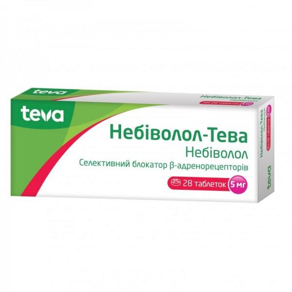 Небиволол-Тева таблетки по 5 мг, 28 шт.