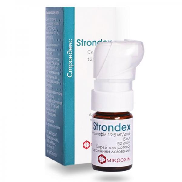 Строндекс 12.5 мг/5 мл спрей для ротовой полости (32 дозы)