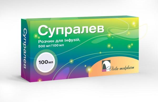 Супралев раствор для инфузий, 500 мг/100 мл, 100 мл