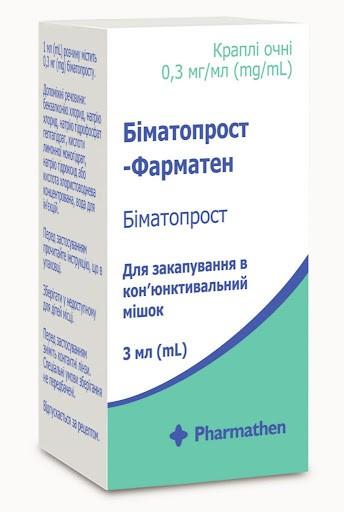 Биматопрост-Фарматен капли для глаз, 0,3 мг/мл, 3 мл