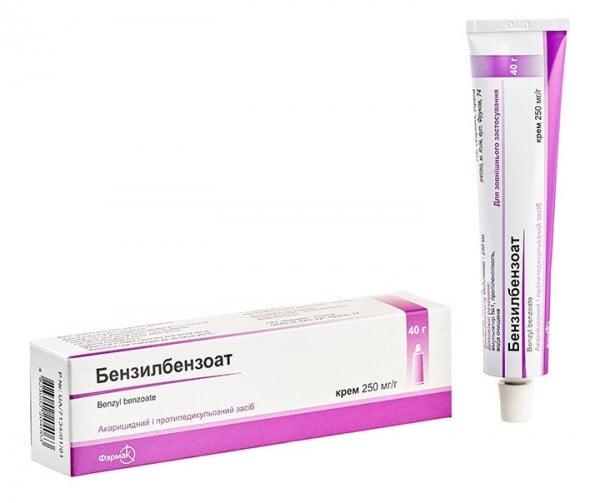 Бензилбензоат крем 250 мг/г, 40 г