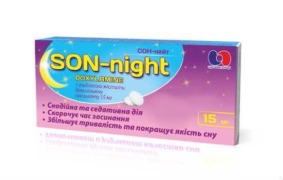 Сон-Найт 15 мг №10 таблетки