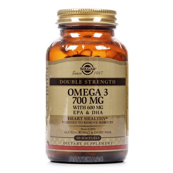 Солгар Омега-3 700 мг ЭПК и ДГК капсулы, 60 шт.