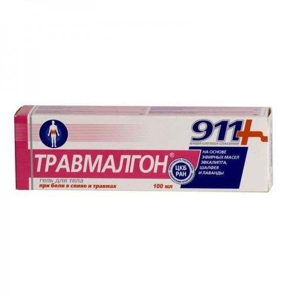 911 Травмалгон разогревающий гель-бальзам для тела, 100 мл - Фармаком