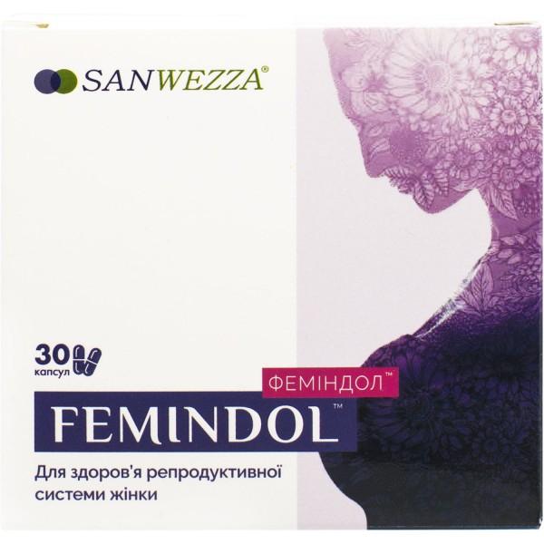 Феминдол капсулы для здоровья репродуктивной системы женщины, 30 шт.