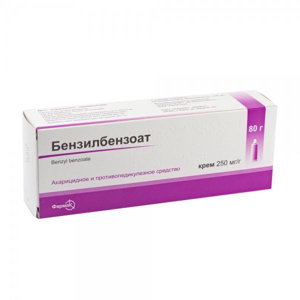 Бензилбензоат крем 250 мг/г, 80 г