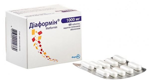 Диаформин SR таблетки пролонгированного действия по 1000 мг, 60 шт.