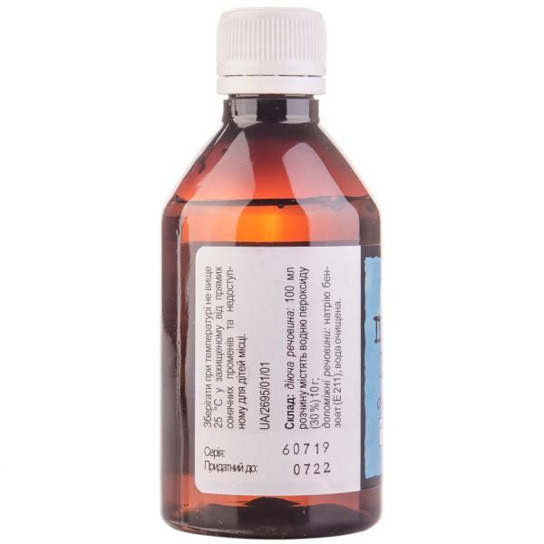 Перекись водорода раствор для внешнего применения 3%, 100 мл - ДКП Фармацевтическая фабрика