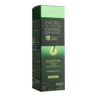 Nature.med (Натур.мед) Луково-чесночный комплекс шампунь против выпадения волос, 200 мл